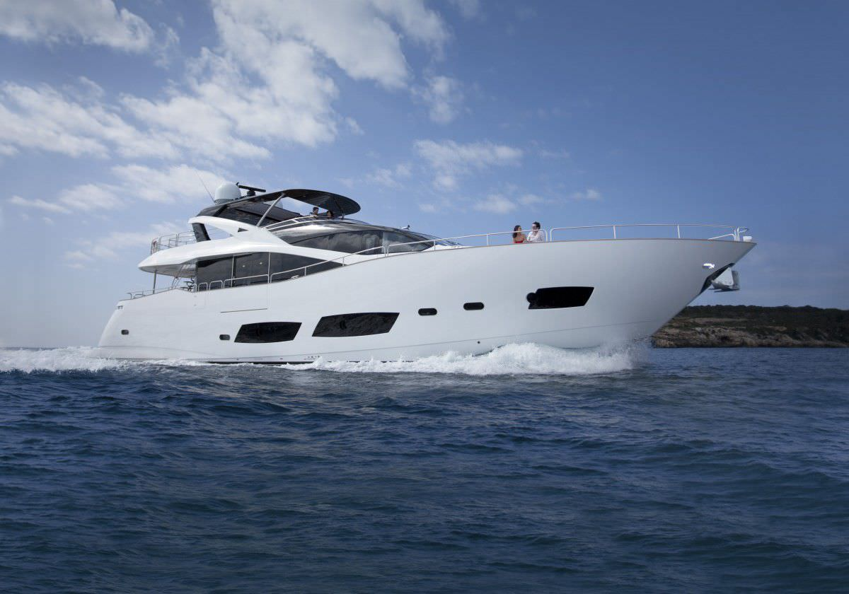 Image of a performance motor yacht